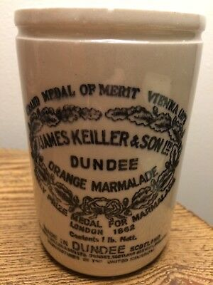 James Keiller & Son Ltd Dundee Orange Marmalade Jar 1 lb Mint Condition