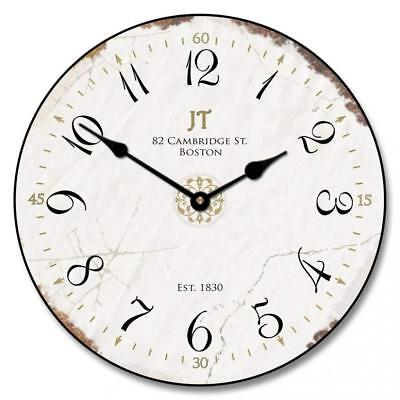 Vintage White Wall Clock, Available in 8 sizes, Most Sizes Ship 2 - 3 days,...