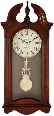 Howard Miller Malia Wall Clock with Westminster Chime, Cherry Finish, Quartz...