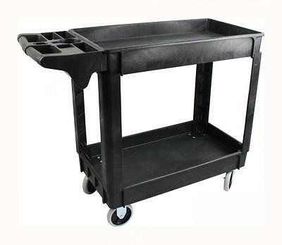 """MaxWorks Industrial Polypropylene Two-Tray Cart, 30""""x16"""" (80855)"""