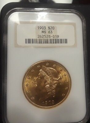 1903 $20 MS 63 NGC- graded Double Eagle
