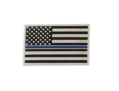 Thin Blue Line American Flag Police Support Lapel Pin