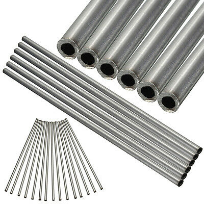 1/2/6/10pcs Stainless Steel Capillary Round Tube Wall OD 6mm x 4mm Length 250mm