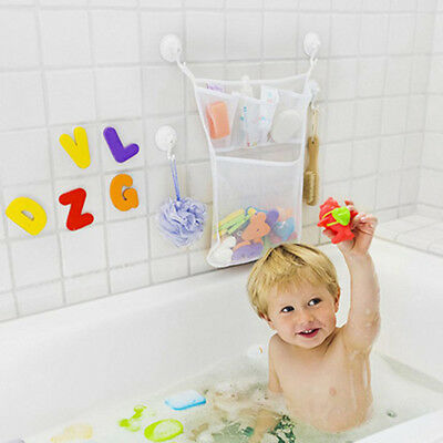 Bath Toy Organizer with Suction Hooks Mesh Toy Storage for Kids Pockets Net