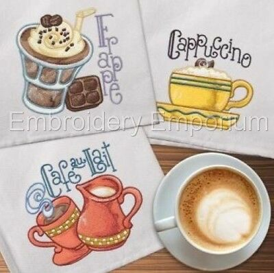 Coffee Collection - Machine Embroidery Designs On Cd