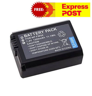 NP-FW50 NPFW50 Li-ion Battery for Sony alpha DSLR A6000 ILCE-6000 DSLR Camera