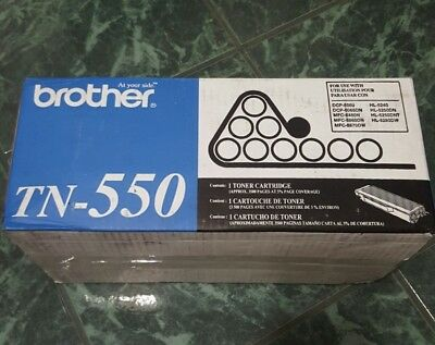 Brand New Brother Tn-550 Tn550  Toner Cartridge Genuine Oem