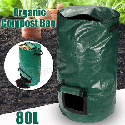 80L Organic Compost Bag Waste Converter Bins Eco Friendly Compost Storage Garden