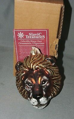 Slavic Treasures Lion With Mane Hand Blown Ornament