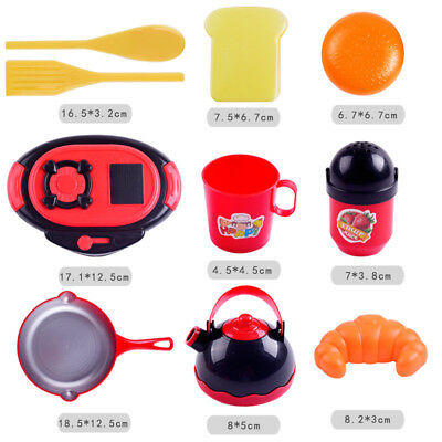 Education Toy 10pcs Kids Pretend Role Play Kitchen Supplies Food Toys Cutting