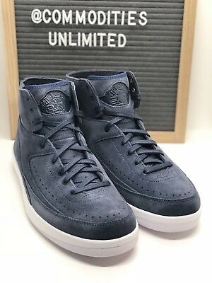 33150b8298e Nike AIR JORDAN 2 RETRO DECON (897521 402) Men's Sneakers Size 9 Blue White