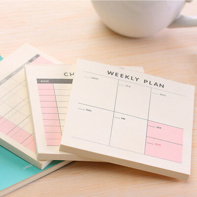60sheet Daily Weekly Month Planner Memo Pad Portable Book Kawaii Stationery