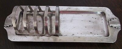 Art Deco Silver Plated Taost Rack by Roberts & Dore of Sheffield Pat No 28880