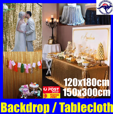 Sequin Table Rcloth Tablecloth Wedding Backdrop Party Decoration Gold Silver