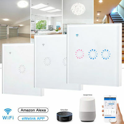 AU STOCK 1/2/3 gang WIFI Smart Wall Light Remote Touch Switch For alexa home kit