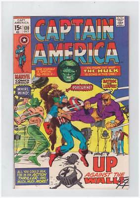 Captain America # 130 Against the Wall grade 8.0 scarce book !!