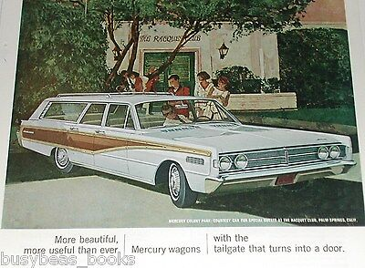 1966 MERCURY advert, Colony Park Station Wagon, Racquet Club Palm Springs