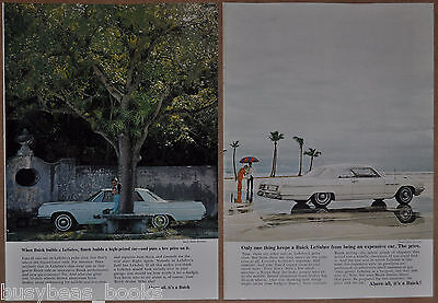 1964 BUICK LESABRE advertisements x2, Buick LeSabre 2-door convertible, sedan