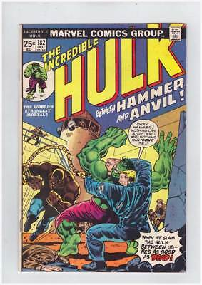 Hulk # 182  Between Hammer and Anvil  3rd Wolverine !  grade 5.0 scarce book !