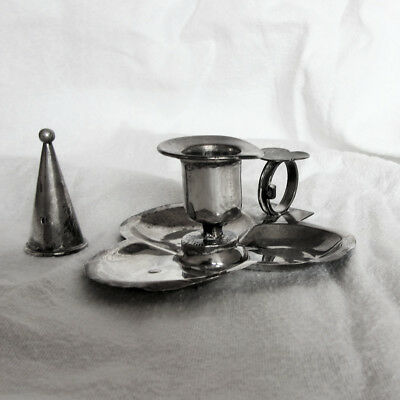 Silver Chamber Candlestick and Snuffer, S. Blanckensee & Sons, B'ham 1894