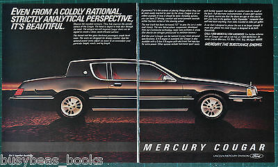 1983 MERCURY COUGAR 2-page advertisement, Mercury Cougar sedan