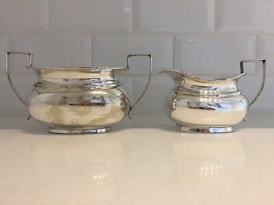 Vintage Antique Silver Plated EPNS Sugar Bowl & Milk Jug Set Made in England