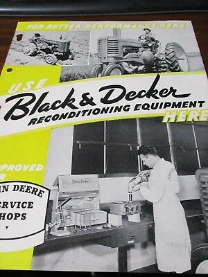 Black & Decker Reconditioning Equipment for John Deere Service Shops Brochure