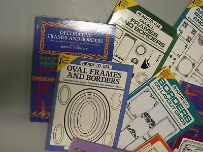 Border Art books - 8 in all. Look new and unused