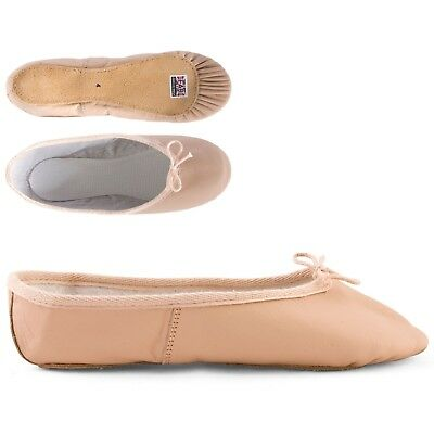 FAB 612LSS Pink Full Sole Leather Ballet Shoes size 4