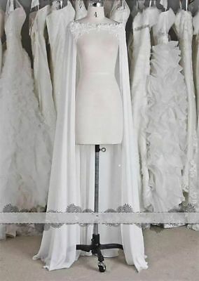Wedding Cape Veil Bridal Shoulder Veil White/Ivory Tulle Long cape cloak Shawl