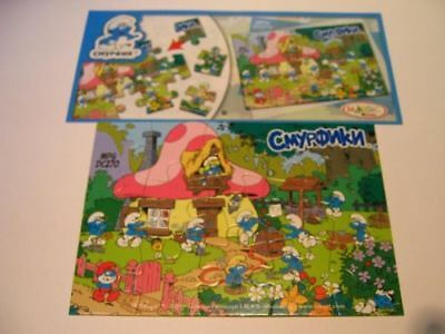 Dc270 Puzzle I Puffi + Bpz Kinder Joy Russia 2011 The Smurfs