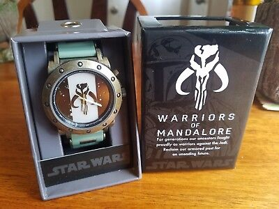 "Disney Star Wars ""Warriors Of Mandalore"" Boba Fett Watch BNIB - LOOK!!"