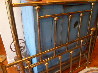 Antique Brass Bed. Full sz. Heavy, Polished, beautiful. Rails too. Pickup only