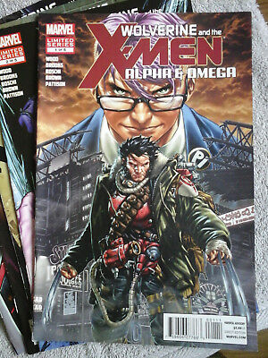 Wolverine And The X-Men Alpha & Omega Complete Mini Series #1-5