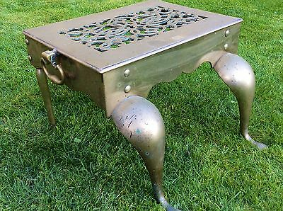 Late 18th Early 19th Century Solid Brass Fireside Footman. Inglenook Trivet