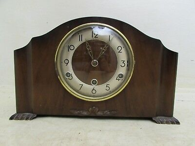 Vintage Bentima Mantel Clock, Perivale Westminster Chime Movement, Requires Atte