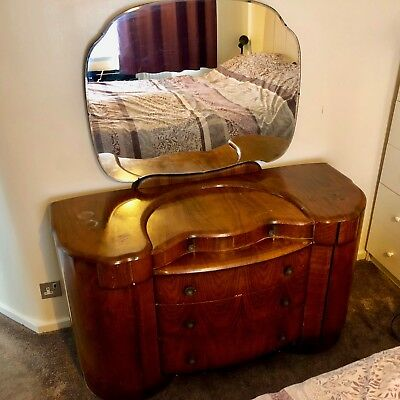 Shrager Dressing Table Drawers Mirror Art Deco Vintage Antique Retro Collectable