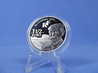 Frankreich 1 ½  Euro 2003 ,Olympiade Athen, Silber *PP/Proof* (17246)