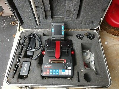 Aurora 3500 Fiber Optic Fusion Splicer, with cleaver & some accessories