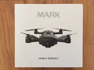 HIGH GREAT Mark 4K Camera Drone App Control VIO Positioning 2x Batteries Incl