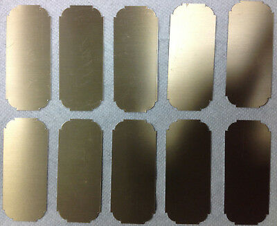 """Lot of 10 Brass Trophy Plates for Engraving 3.5"""" x 1.5""""  Blank"""