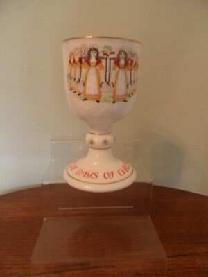 Royal Doulton Twelve Days Of Christmas Goblet - Eight Maids-A-Milking