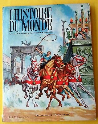 Tintin Herge L'histoire Du Monde Tome 2 Collect Timbres Tintin Funcken Complet