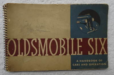 VINTAGE 1930's HANDBOOK OF CARE & OPERATION FOR OLDSMOBILE SIX OWNERS #23