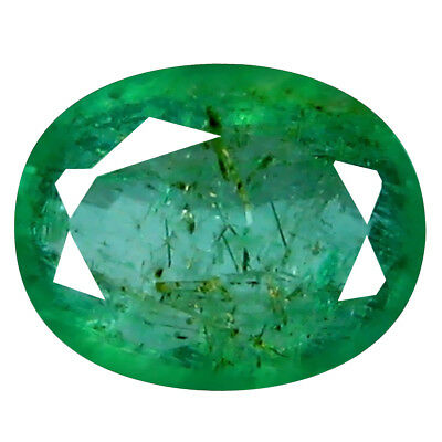 0.75 ct ROMANTIC OVAL CUT (7 X 5 MM) COLOMBIAN EMERALD NATURAL GEMSTONE