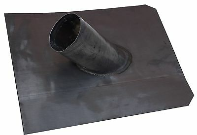 """Soil pipe lead slate for pitched or flat roofs 450mm x 450mm 4"""" pipe"""