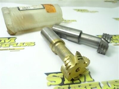 """Nice!! Pair Of Spi Hsco Roughing/finishing T-Slot Cutters 5/8"""" Widths 1"""" Shanks"""
