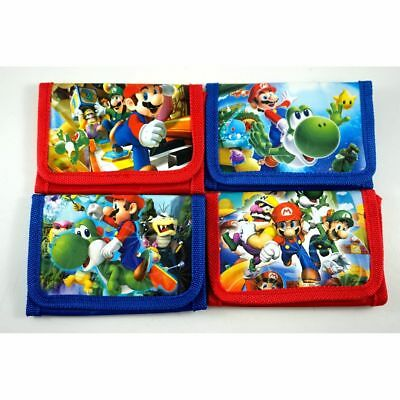 BUY 1 GET 1 FREE Super Mario Bros. Kids Boys Childs Purse Coins Wallet Party Bag