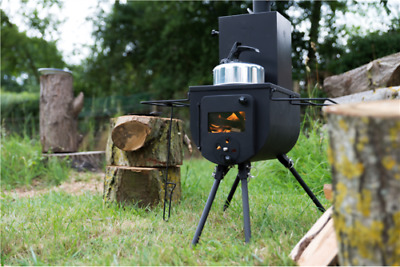Portable Woodburner Woodsman Stove Bell Tent With Mini Oven Axe And
