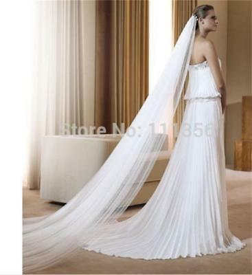 One Layer 9 m Cathedral Bridal Veils Accessories  Wedding Veil With Comb